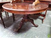 Sale 8485 - Lot 1071 - Victorian Carved Mahogany Supper Table, on turned pedestal
