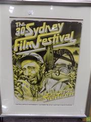 Sale 8563T - Lot 2170 - Fred Preston, The 30th Sydney Film Festival Poster 1983, decorative print, frame size: 77 x 66cm, unsigned
