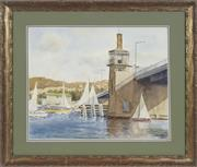 Sale 8755A - Lot 5098 - Ronald Steuart (1898 - 1988) - Spit Bridge, Middle Harbour 1982 33 x 40cm