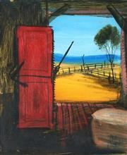 Sale 8870A - Lot 558 - Kevin Charles (Pro) Hart (1928 - 2006) - View from the Shed 23 x 18.5 cm
