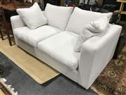 Sale 8893 - Lot 1019 - Molmic Two Seater Lounge Upholstered in White Fabric