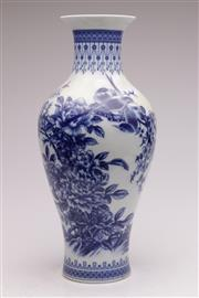 Sale 9060 - Lot 53 - A Baluster Chinese Blue And White Vase h: 53cm