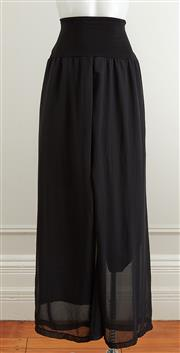 Sale 9081H - Lot 61 - A pair of Asignatura wide leg cocktail pants in black silk chiffon, size 10 (small hole to waist)