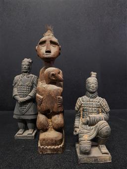 Sale 9254 - Lot 2145 - Collection of 3 thai statues