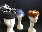 Sale 7982B - Lot 192 - Three fascinators with feather detail