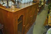 Sale 8331 - Lot 1524 - Timber Entertainment Cabinet with Four Doors and Single Drawer