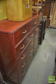 Sale 8331 - Lot 1344 - Oversized Eleven Drawer Chest