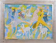 Sale 8389 - Lot 533 - Aly Ben Salem (1910 - 2001) - Women Dancing 55 x 76.5cm