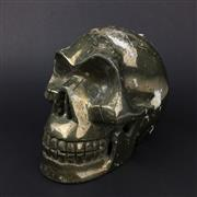 Sale 8567 - Lot 601 - Fools Gold (Iron Pyrite) Carved Skull, Peru