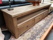 Sale 8688 - Lot 1038 - Parquetry Top TV Unit