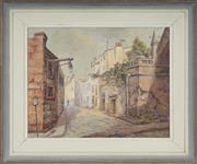 Sale 8755A - Lot 5100 - Sheila Forbes (1919 - ) - Argyle Street - The Rocks Sydney 37 x 46cm