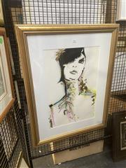 Sale 8898 - Lot 2039 - Victoria Leigh - Glamour Girl mixed media on paper, 87 x 67cm (frame), signed lower left