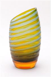 Sale 9035 - Lot 83 - An Art Glass Ribbed Effect Vase (H 20cm)
