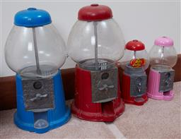 Sale 9103H - Lot 48 - Two large and two small Jelly Belly Dispensers. tallest height 39cm