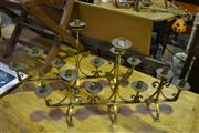 Sale 8134 - Lot 1058 - Two Pairs Of 7 Arm Candlesticks