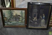 Sale 8522 - Lot 2089 - Watercolour, Country House, 40x50cm with a Classic Print (2)
