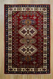 Sale 8559C - Lot 70 - Afghan Super Kazak 147cm x 96cm