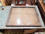 Sale 8769 - Lot 1043 - Vintage Timber Framed Notice Board with Glass Front
