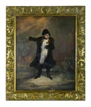Sale 8770A - Lot 98 - Antique French, early C19th - Napoleon Bonaparte in Battle 60 x 50 cm  oil on canvas on board