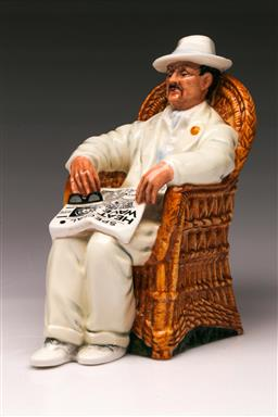 Sale 9110 - Lot 6 - Royal Doulton figure of Taking Things Easy HN 26880 (H:17cm)