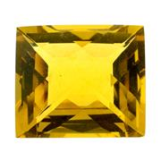 Sale 8060B - Lot 386 - AN UNSET CHEQUERBOARD CUT GOLDEN CITRINE; Wt. 37.5ct.