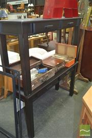 Sale 8331 - Lot 1339 - Pair of Timber Hall Tables with Two Drawers