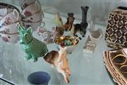 Sale 8379 - Lot 185 - Sylvac Green Dog Figurine with Other Wares incl. Westminster Sugar Bowl
