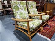 Sale 8760 - Lot 1040 - Pair of Cane Armchairs