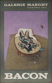 Sale 8975A - Lot 5044 - Francis Bacon (1909 - 1992) - Exhibition Poster for Galerie Maeght, 1966 71 x 45cm (frame: 73 x 47 cm)