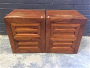 Sale 9017 - Lot 1077 - Pair of Modern Bedside Chests (h:54 x w:48 x d:42cm)