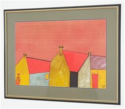 Sale 9108H - Lot 43 - Cuong, (Vietnam) Terrace houses, watercolour. signed and dated lower right. ' 98, 50cm x 72cm