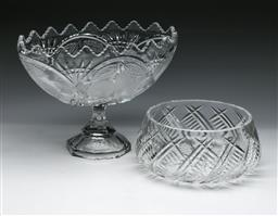 Sale 9144 - Lot 287 - Collection of Bohemia crystal glassware inc large bowl, comport and others (comport H:26cm)