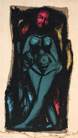 Sale 9244A - Lot 5092 - ROY DALGARNO (1920 - 2001) Au Joile, 1963 colour lithograph, ed. 2/2 (AF) (unframed/mounted on card) 52 x 29 cm signed and dated low...
