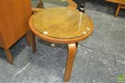 Sale 8275 - Lot 1072 - Alvar Aalto Side Table with Glass Top