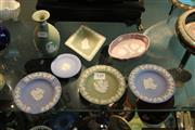 Sale 8330T - Lot 149 - Wedgwood Japer Ware Dressing Table Items