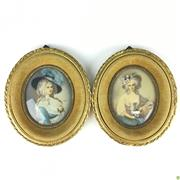 Sale 8562R - Lot 263 - Pair of Timber and Metal Miniatures (12cm x 14cm)