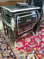 Sale 8566 - Lot 1384 - Pair of Black High Gloss Bedside Cabinets (61 x 44 x 68)