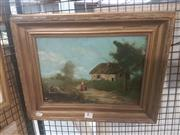 Sale 8648B - Lot 2034 - Artist Unknown (European School) - Country Scene and Cottage 23.5 x 34cm