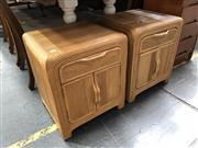 Sale 8854 - Lot 1068 - Pair of Fluted Bedsides