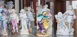 Sale 9103M - Lot 431 - A shelf lot of ceramic figures, Tallest 31cm