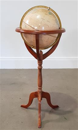 Sale 9218 - Lot 1081 - World globe on timber stand (h100cm)