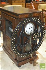 Sale 8275 - Lot 1020 - Deyton Money Weight Scale Co Bundy Clock in Oak Case