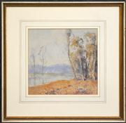 Sale 8332A - Lot 91 - Andrew Park (working 1940s - 1960s) - By the River 21 x 22cm