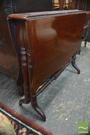 Sale 8335 - Lot 1076 - Victorian Walnut Sutherland Table, with turned legs & stretchers