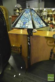Sale 8337 - Lot 1035 - Leadlight Shade Standard Lamp