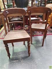 Sale 8589 - Lot 1060 - Set of Six Reproduction Timber Chairs