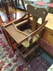Sale 8593 - Lot 1025 - Vintage Folding Highchair