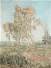 Sale 8813A - Lot 5080 - George Frederick Reynolds (1880 - 1932) - Ghost Gums, 1916 90.5 x 69.5cm