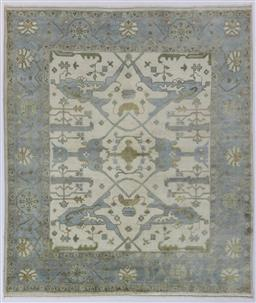 Sale 9181C - Lot 1 - A lambswool Oushack Jaipur mellow tone lambswool wool rug 293 x 250cm