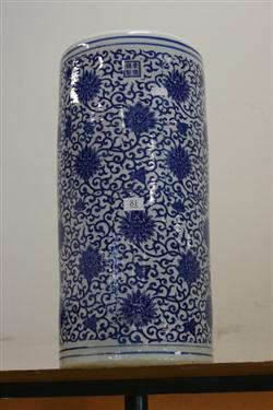 Sale 7914 - Lot 81 - Chinese Blue & White Vase with Repeating Floral Motifs